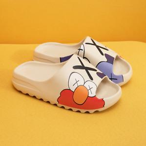 2021 Summer Slides Breathable Beach Sandals Flip Flops Mouth Men Women Cartoon !