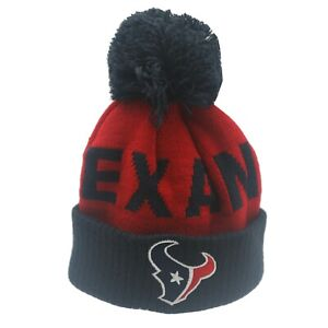 Houston Texans Official NFL Infant 12-24 Months Pom Knit Winter Hat Cap New Tag