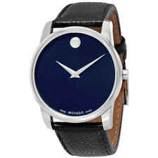 Movado Museum Blue Dial Leather Men's Watch 0607013
