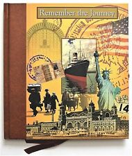 Remember the Journey Journal Book Family Tree Ellis Island Statue of Liberty HC