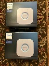 Two (2) Philips 3rd Generation Hue Bridge Model 458471 2.1 Hub Smart control Nib