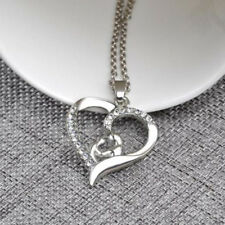 Hot Mother's Day Gift Mom Child Heart Pendant Chain Family Love Necklace Jewelry