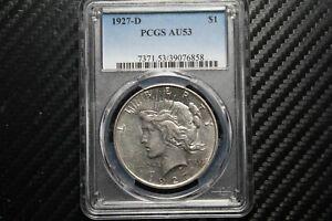 1927 D Peace Silver Dollar PCGS AU53 (76858)