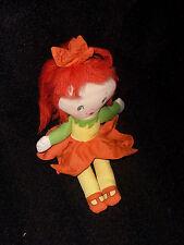 Vintage Red Hair Dress Little Girl Child Cloth Rag Doll