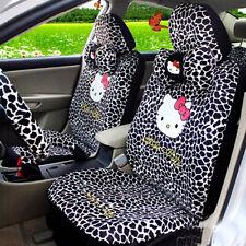 Car Seat Covers B-Leopard Hello Kitty Cartoon Universal Car Interior 18 Pieces