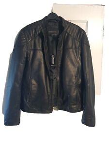 Barneys originals leather jacket medium