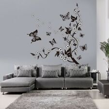 Butterfly Flower Branch Decorative Wall Sticker Home Decor Living Room Mural Art