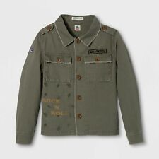 Grateful Dead Junk Food Midnight Mayhem Olive Twill Tour Military Jacket S M L
