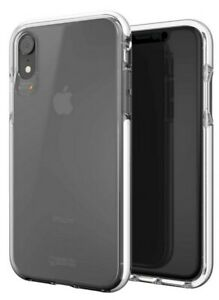 Gear4 Piccadilly iPhone XR White Case Slim Clear Tough Hard Back Cover Edge Band