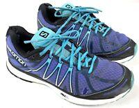 Salomon X-trail City Trail Running Walking Shoes Blue Women's Size 10 Used #M