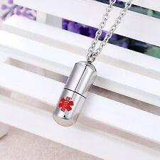 Steel Cylinder Medical Alert Vincenza Personalised Memorial Jewellery Stainless