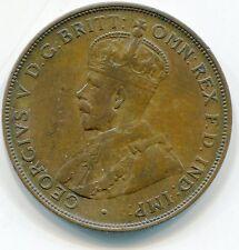 1924 PENNY 1919 1/2 COMMON WEALTH AUSTRALIA AUSTRALIAN BRONZE COIN KING GEORGE 5