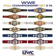 WWE Belts Full Custom Set x 14 for Mattel/ Jakks /Hasbro/Elite Figures