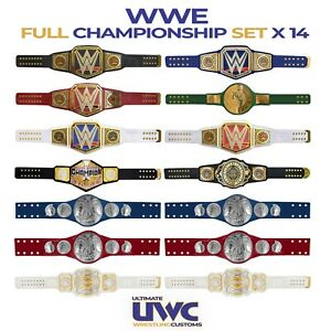 WWE Belts Full Custom Set x 14 for Mattel/ Jakks /Hasbro/Elite Figures