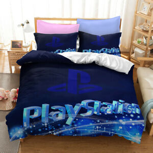 3D Gamer Geek Video Game Duvet Quilt Cover PlayStation Bedding Set PillowCase #4