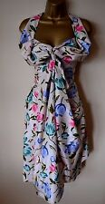 VIVIENNE WESTWOOD RED LABEL 44 STUNNING VINTAGE STYLE FLORAL SILK DRESS £602