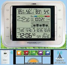 PORTABLE WEATHER STATION, RADIO CONTROLLED ATOMIC ALARM CLOCK, LCD LED BACKLIGHT