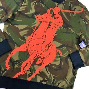 Polo Sport Ralph Lauren Military US Army Camo Big Pony Knit Sweater Sweatshirts