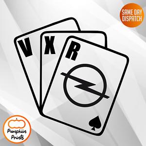 OPEL VXR CORSA ASTRA INSIGNIA Vinyl Car Sticker Side Window Decal CARDS VAUXHALL