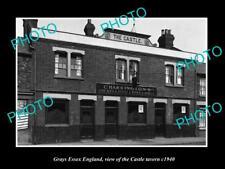 OLD LARGE HISTORIC PHOTO GRAYS ESSEX ENGLAND, THE CASTLE TAVERN c1940