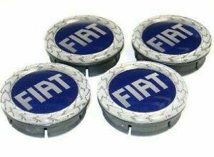 4 Tappi Coprimozzo FIAT BRAVO PANDA PUNTO IDEA MULTIPLA Cerchi in Lega 50mm BLU