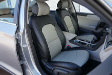 IGGEE S.LEATHER CUSTOM FIT SEAT COVER FOR 2011-2015 HYUNDAI SONATA 13COLORS