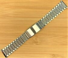 Stelux Stainless Steel Watch Bracelet 7417 20mm lug width 165mm long NOS
