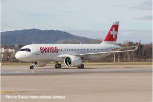 "New! Herpa 570947 Swiss Airlines Airbus A320neo HB-JDA ""Engelberg"" - 1/200 model"