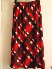 LADIES NEW NIGHTINGALES RED MULTI CHECK 34 INCH LINED SKIRT SIZE 10