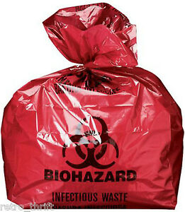 """Biohazard Bags Red Infectious Liner 24"""" X 23"""" 200/Case Halloween Yard Decoration"""
