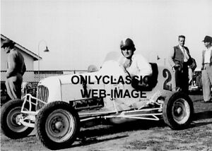 DEUCES WILD MIDGET RACE CAR AUTO RACING PHOTO DRIVER-TED HORN INDY 500 AMERICANA