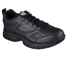 77200 W Wide Fit Negro Zapatos para mujer de trabajo de Skechers Memoria Espuma Antideslizante EH