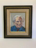 "Original Oil Painting On Board Of Armenian Artist Martiros Saryan 11x14"" Framed"