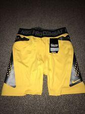 Nike Mens Pro Combat Anderson Silva MMA Fight Shorts  Yellow Brand New Size  XL