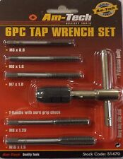 Tap Set Re-Threading Repairs Tool Re Cut 5 Spares Metal Cutters Hole Tapping New