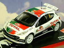 Miniature 1/43 total peugeot 207 s2000 #9 Monte Carlo Rally 2010 B. & C. Magalhaes