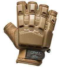 Valken V-Tac Tan Tactical Half Finger Paintball Gloves X-Large Xl Xxl 2Xl New