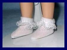"Lace Ruffle Trim Doll Ankle SOCKS Anklets fit 8"" TINY BETSY McCALL PukiPuki"