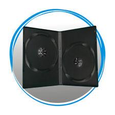 50 Standard Black 14mm Double CD DVD R Movie Box Storage Case
