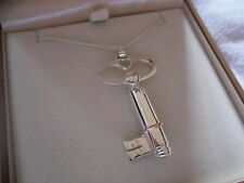 Clogau Sterling Silver & Rose Welsh Gold Key Notes Pendant RRP £209.00