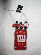 Rare Ny New York Giants Red Sled Christmas Tree Ornament Holiday Man Cave Gift