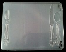 Sizzix Large Embossing Folder PLACE SETTING fits Cuttlebug & Wizard 4.5x5.75in