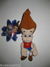 "2003 Nickelodeon Jimmy Neutron Plush Coin Purse Clip-On Keychain 9"" Brand New!"