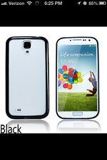 BLACK Matte Back Case Cover Bumper For Samsung Galaxy S4 SIV i9500 i9505