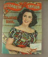 Vintage Elizabeth Taylor Large Coloring Book Whitman Publishing 1950
