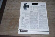 ALTEC Vintage Speaker 411 8A Original Assembly Instructions