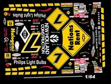 #7 Michael Waltrip Nations Rent 2000 1/64th HO Scale Slot Car Waterslide Decals
