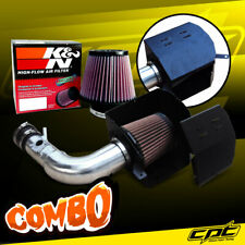 For 13-19 Scion FRS BRZ 2.0L 4cyl Polish Cold Air Intake + K&N Air Filter