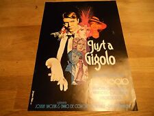 JUST A GIGOLO DAVID BOWIE DANISH PRESS KIT NEW SCARCE DOUBLE SIDED WITH TEXT SEE