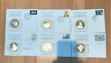 Set of Six (6) International Postmasters Society Sterling Silver Medals